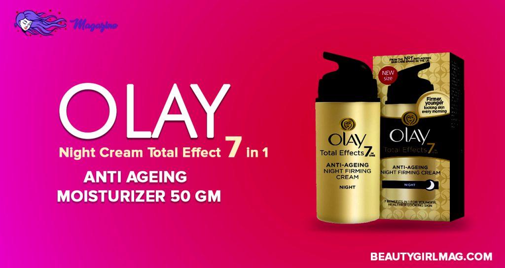 Olay Night Cream Total Effect 7 in 1 - Anti Aging Moisturizer 50 gm