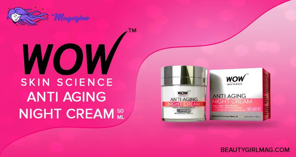 wow skin science - anti aging night cream 50 ml